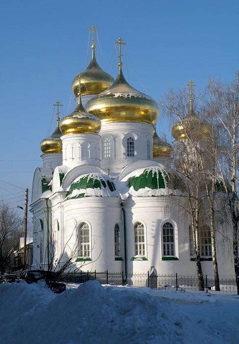 Церковь Сергия Радонежского зимой