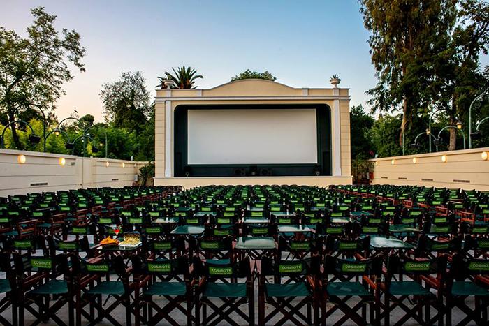 Открытый кинотеатр Cine Thisio в Афинах