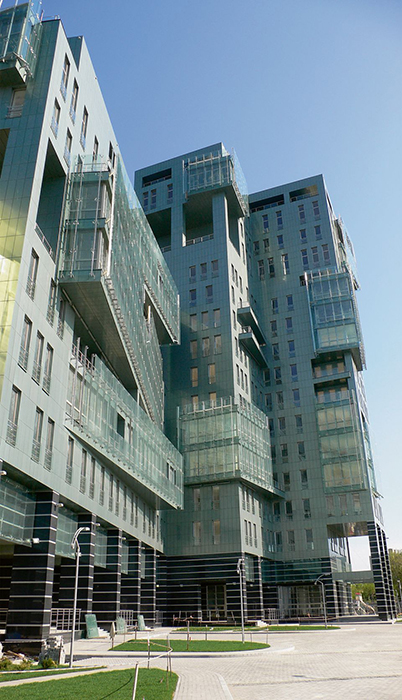 Жилой комплекс «Кристалл»: фрагмент фасада