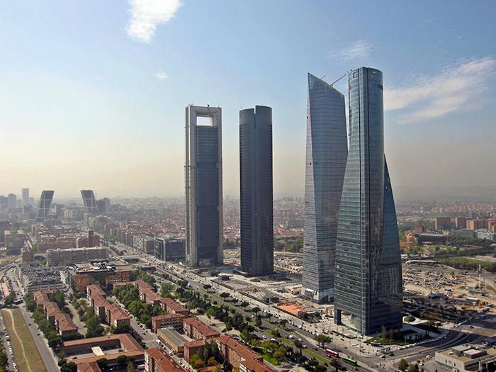 Деловой комплекс '4 башни' с высоты птичьего полета