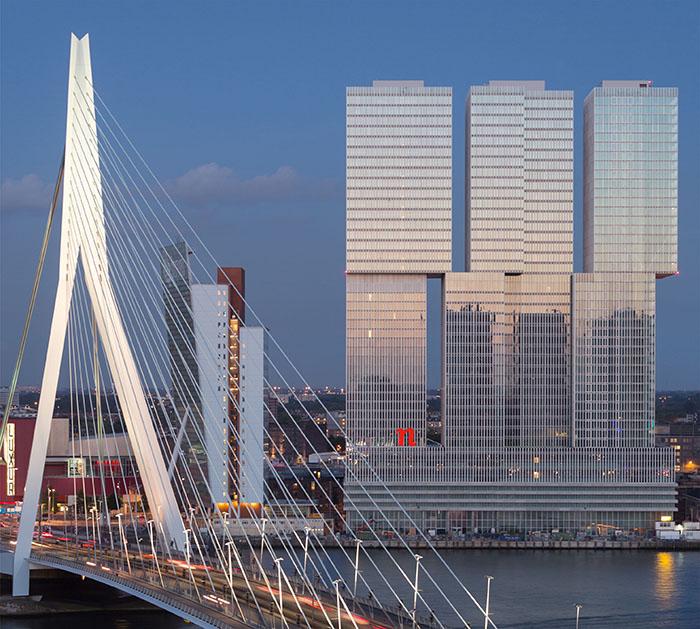 Многофункциональный комплекс De Rotterdam в Роттердаме, Голландия
