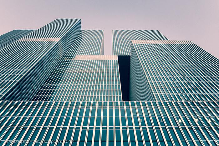 Многофункциональный комплекс De Rotterdam в Роттердаме, Голландия: фасад здания