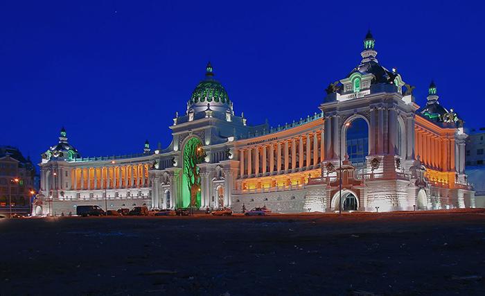 Дворец земледельцев: ночной кадр