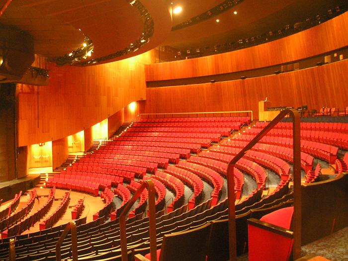 Концертный зал 'Яйцо' в Олбани: интерьер зала