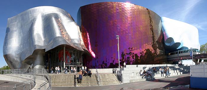 Музей музыки Experience Music Project в Сиэтле, США