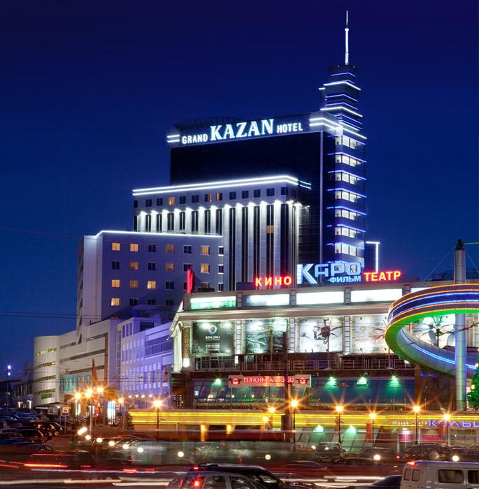 Гостиница «Гранд Отель Казань»: ночной кадр