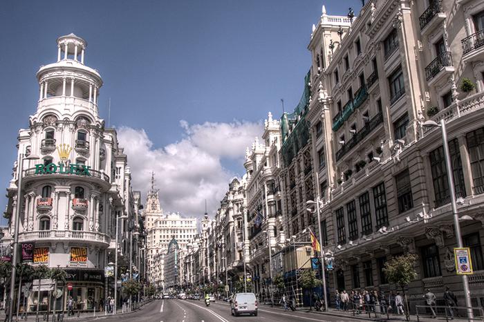 Гран-Виа в Мадриде, Испания