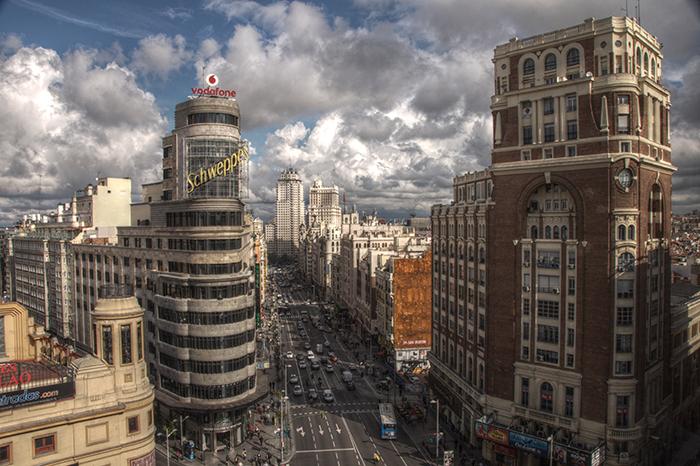Гран-Виа в Мадриде