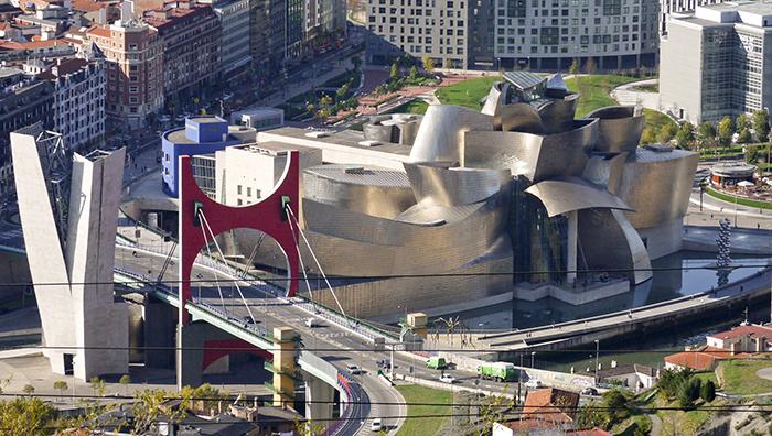 Музей Гугенхайма с высоты птичьего полета