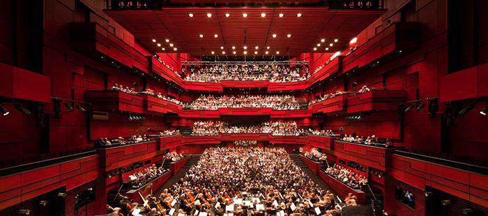 Концертный зал 'Арфа' в Рейкьявике: интерьер зала