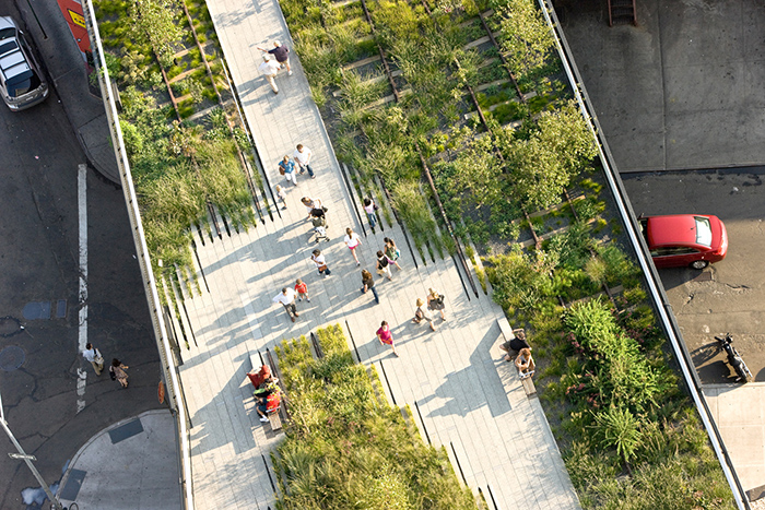 Парк Хай-Лайн с высоты птичьего полета