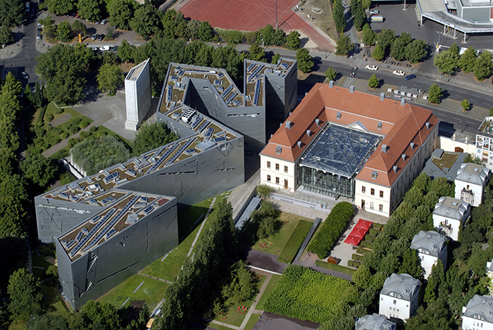 Музей холокоста с высоты птичьего полета