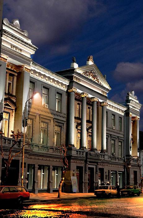 Самарский областной художественный музей: ночной кадр
