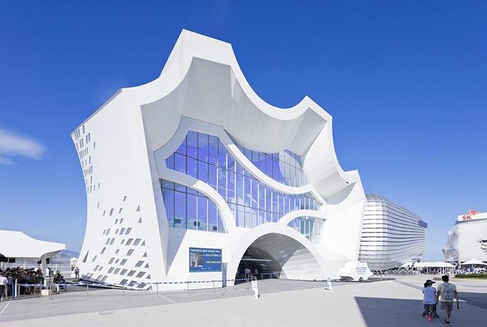 Павильон Hyundai для международной выставки Экспо-2012 в Йосу