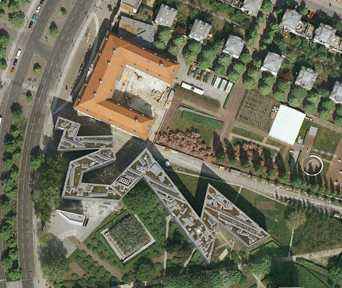 Еврейский музей в Берлине, Германия: вид сверху