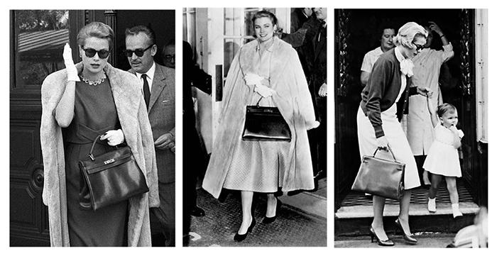 Принцесса Монако Грейс Келли с любимой сумочкой