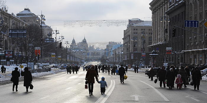 Крещатик в Киеве, Украина