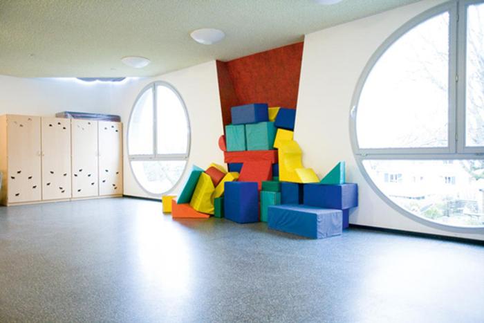 Детский сад в форме кота в Карлсруэ: интерьер помещения