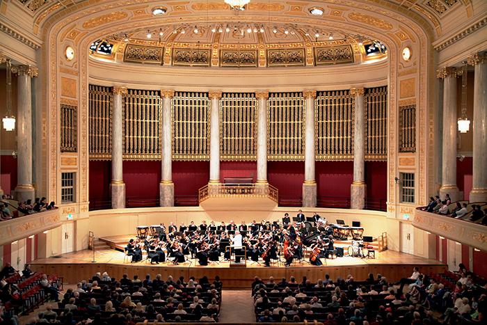 Concert Hall em Berlim: o interior do salão