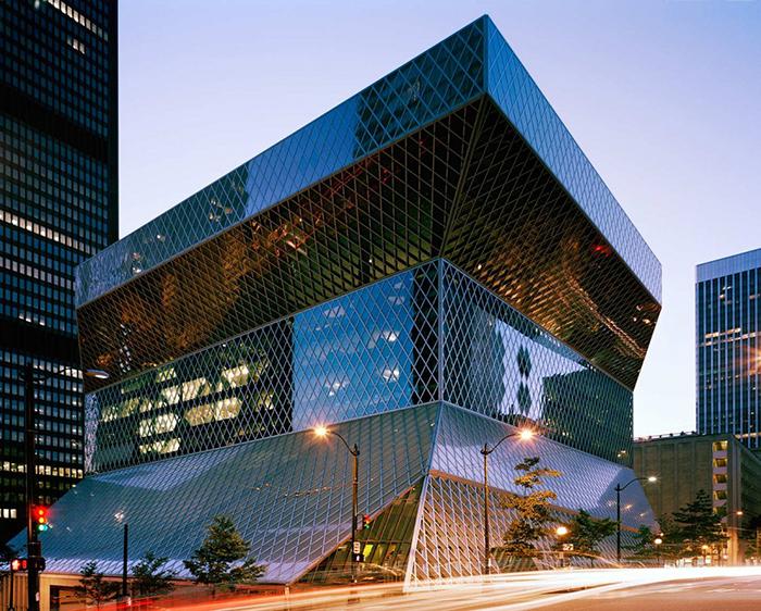 Публичная библиотека в Сиэтле, США