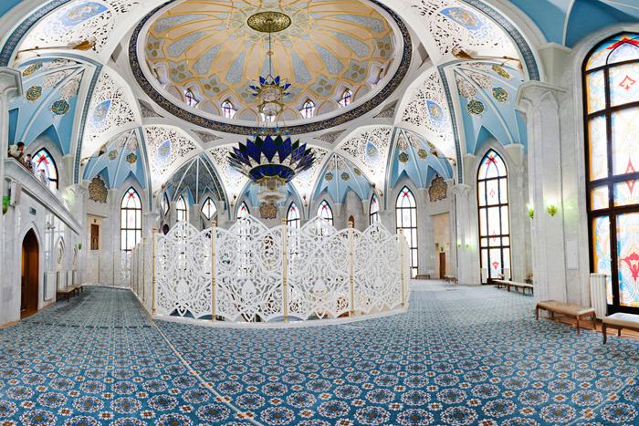 Мечеть Кул-Шариф: интерьер помещения
