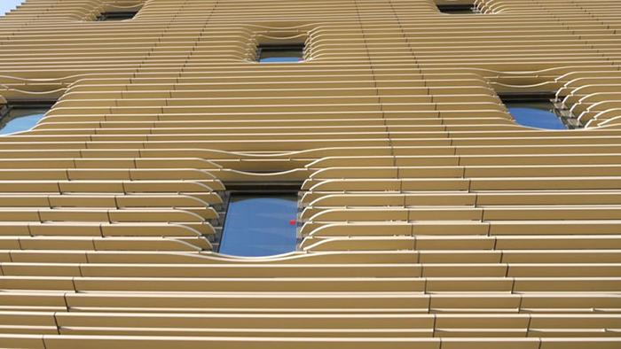 Офисный центр 'Галилей' в Тулузе: фрагмент фасада