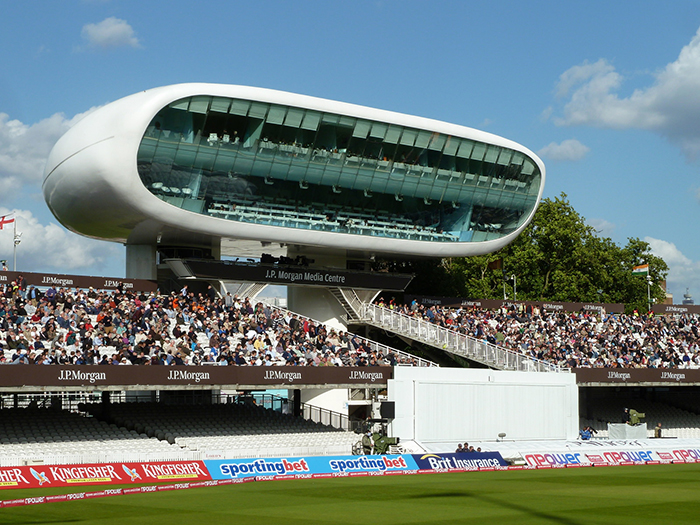 Пресс-центр на стадионе «Лордс» в Лондоне
