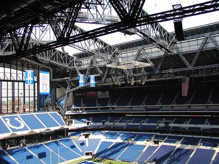 Конструкция крыши на стадионе