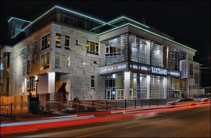 Гостиничный комплекс и спа-салон Luciano: ночной кадр