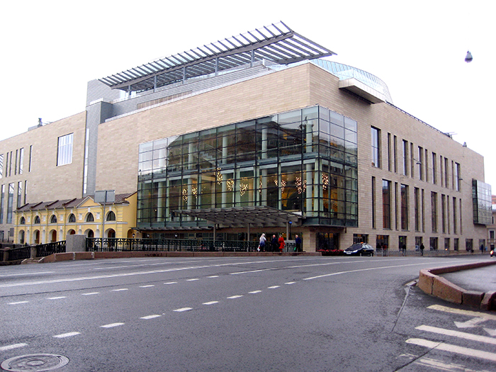 A segunda etapa do Teatro Mariinsky em São Petersburgo, Rússia