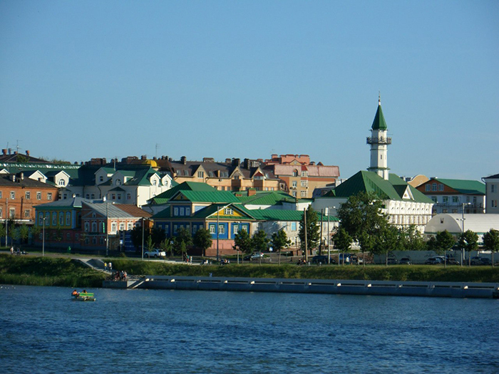Мечеть аль-Марджани в Старо-Татарской слободе: панорамный кадр