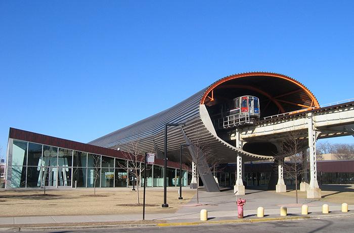 Центр «МакКормик-Трибьюн» Иллинойского технологического института в Чикаго, США