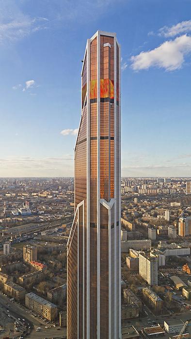 Башня Меркурий Сити в Москве.