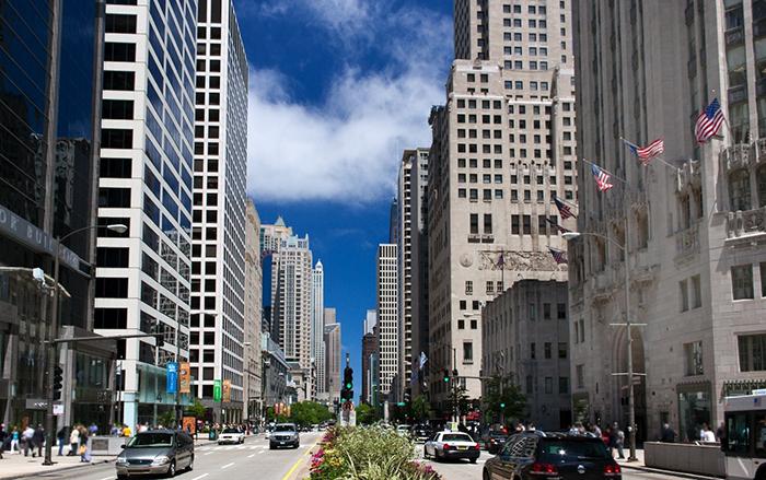 Мичиган-авеню в Чикаго, США