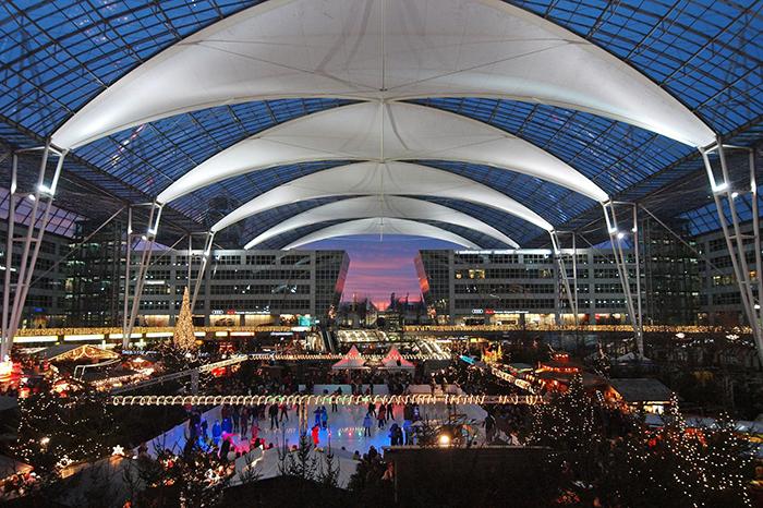 Международный аэропорт «Франц-Йозеф Штраус» в Мюнхене: интерьер помещения