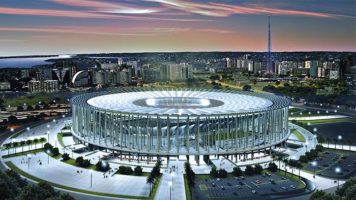 Национальный стадион в Бразилии