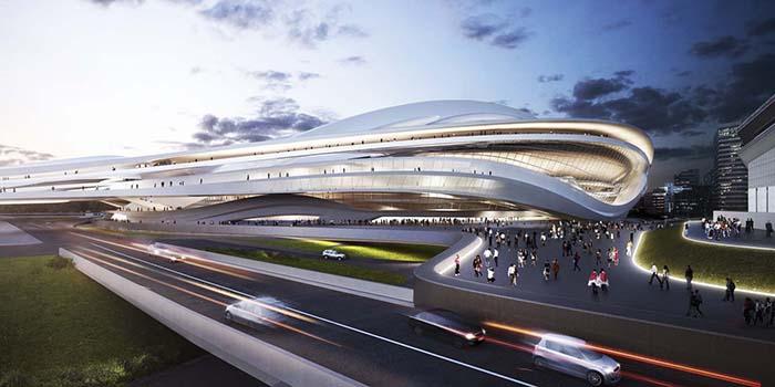 Новый национальный стадион в Токио