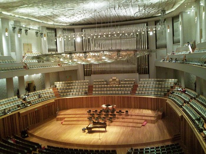 O Teatro Nacional e National Concert Hall, em Taipei em Taipei: o interior do salão
