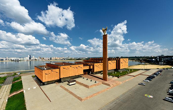 Национальный культурный центр «Казань» с высоты птичьего полета