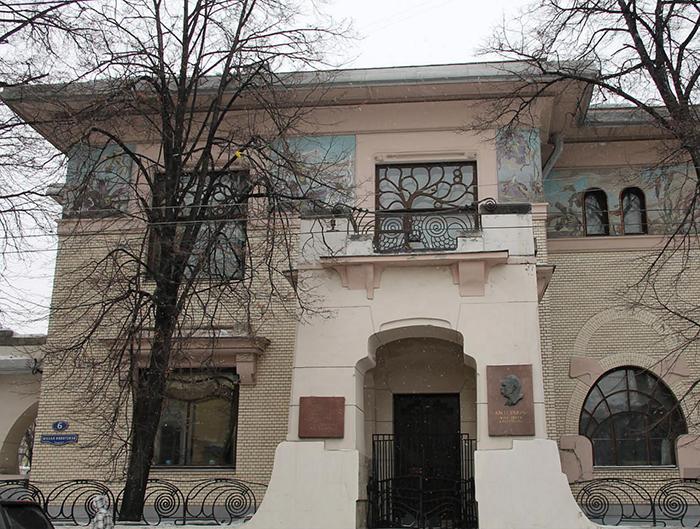Особняк С. П. Рябушинского на Малой Никитской улице: главный фасад