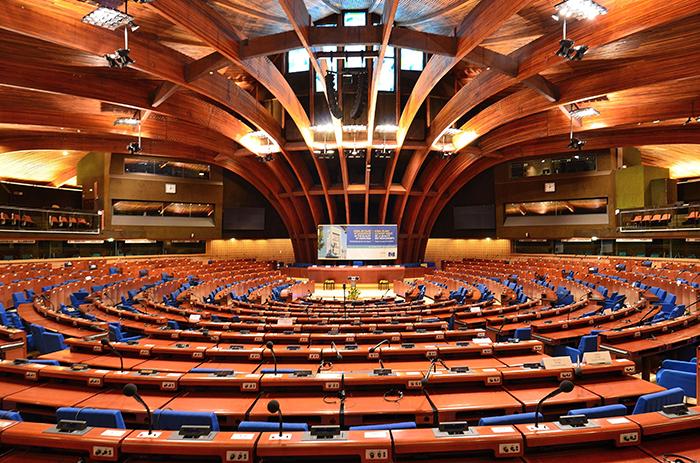 Палац Європи в Страсбурзі: інтер'єр головного залу