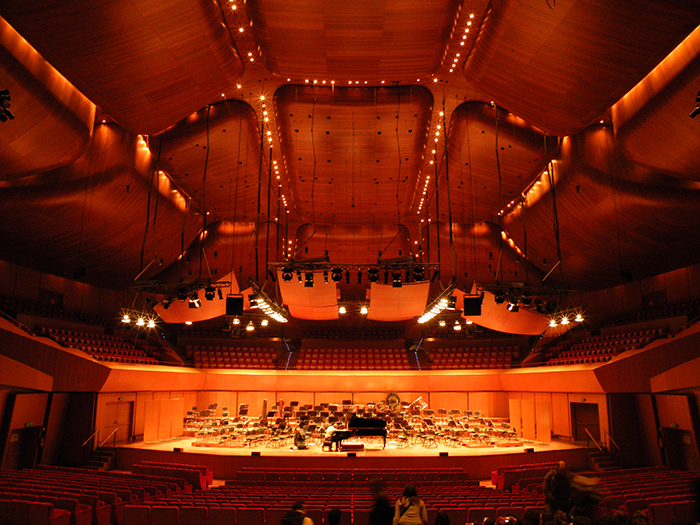 Концертный зал «Парко-делла-Музика» в Риме: интерьер зала