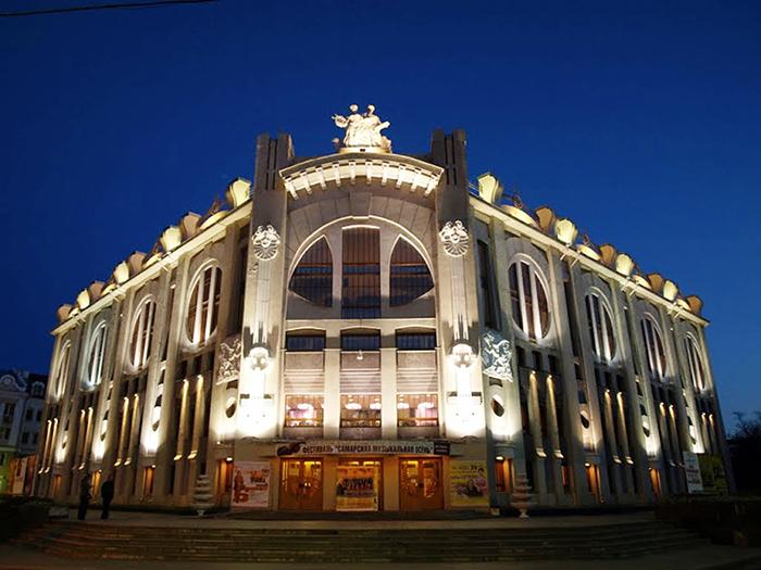 Самарская Государственная Филармония: ночной кадр.