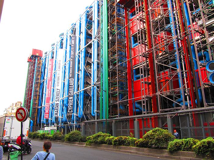 Національний центр мистецтва і культури імені Жоржа Помпіду в Парижі: фрагмент фасаду