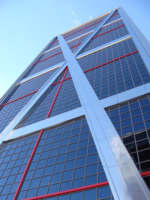Башни-близнецы 'Ворота Европы': фрагмент фасада