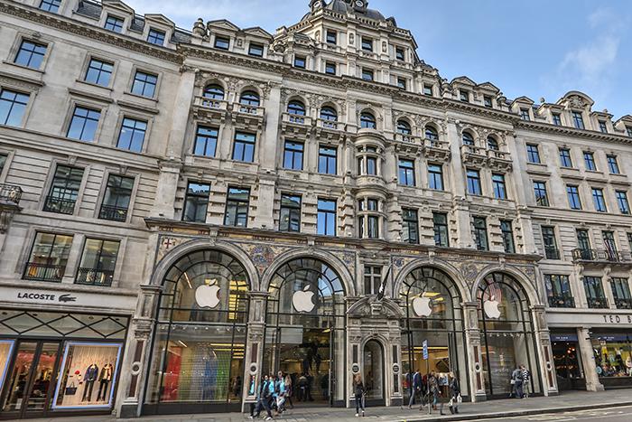 Магазин Apple на Реджент Стрит в Лондоне