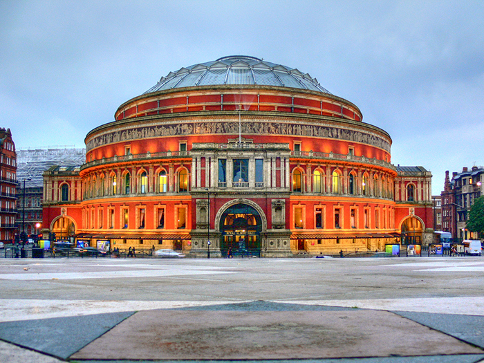 Concert Hall 'Royal Albert Hall, em Londres, Reino Unido