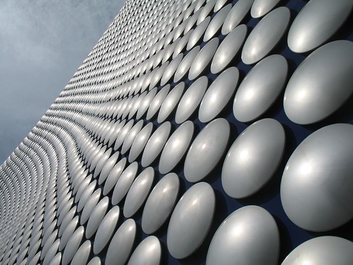 Торгово-развлекательный комплекс «Селфриджес» в Бирмингеме: фрагмент фасада