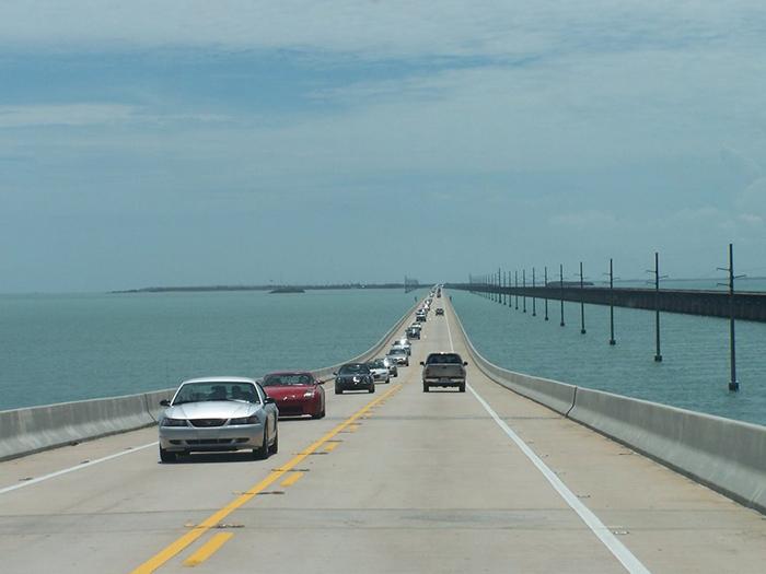Мост '7 Миль' во Флориде, США