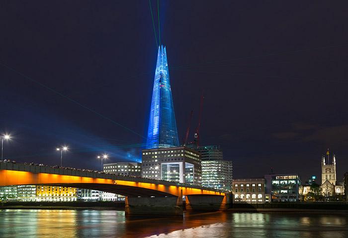 Небоскреб «Шард» в Лондоне: ночной кадр
